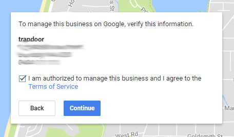Google Business Confirmation
