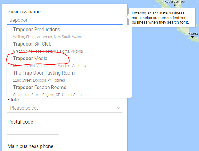 Google Business Listing Search
